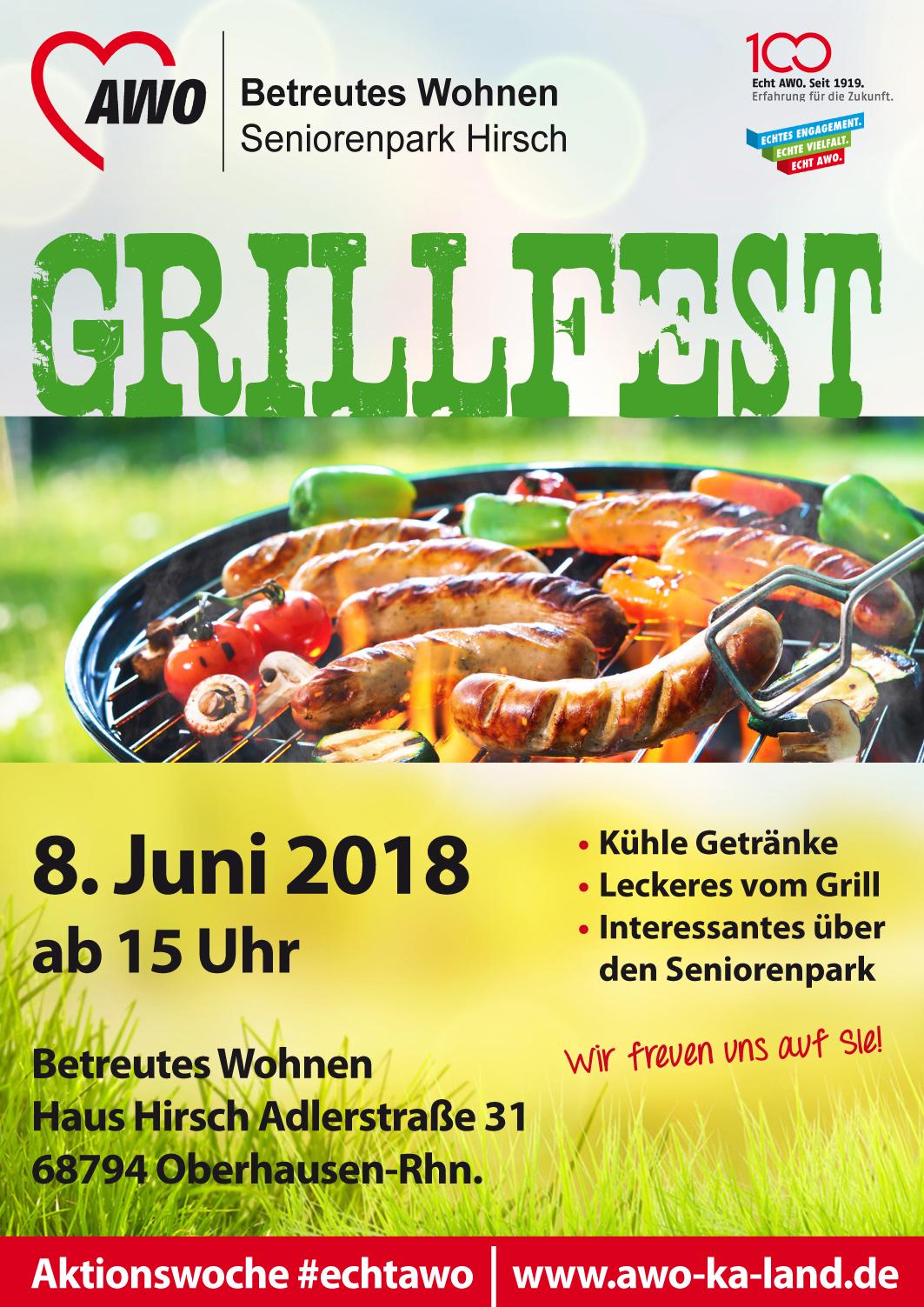 Grillfest im AWO Betreuten Wohnen Hirsch | Echt AWO